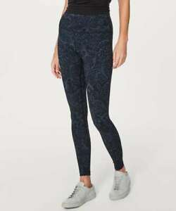 LULULEMON Wunder Under Low Rise Tight FullOn Luxtreme Nouveau Mach Blue Black 12 $74.80