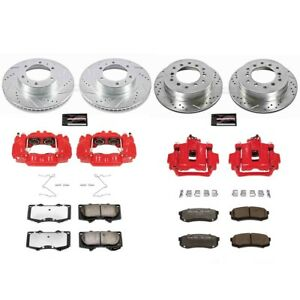 KC138-36 Powerstop 4-Wheel Set Brake Disc and Caliper Kits Front