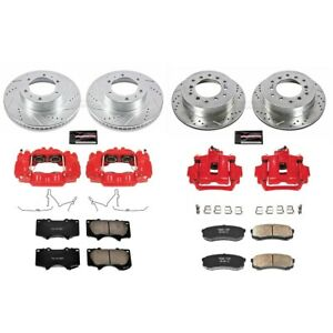 KC138 Powerstop 4-Wheel Set Brake Disc and Caliper Kits Front & Rear for 4Runner