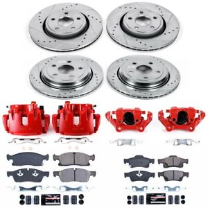 KC5955 Powerstop Brake Disc and Caliper Kits 4-Wheel Set Front & Rear for Jeep