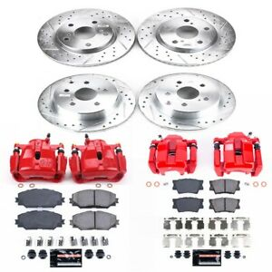 KC4100B Powerstop Brake Disc and Caliper Kits 4-Wheel Set Front