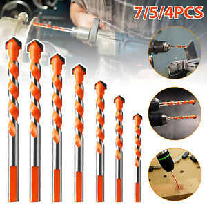 4/5/7PCS Multifunctional Drill Bits Ceramic Glass Punching Hole Working Sets USA