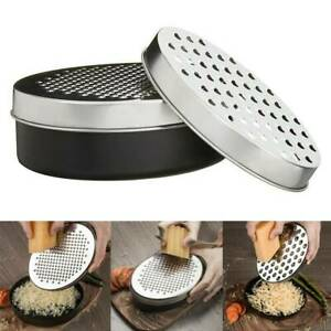 Cheese Grater Vegetable Fruit Stainless Steel Graters with Container Kitchen US