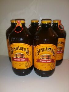 Bundaberg Ginger Beer 12 Pack Old Fashioned Glass Bottle Soda Pop Exp 03 21