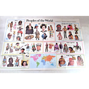 Peoples of the World & National Flags Double Sided Classroom Diviersity Poster