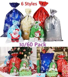 Foil Gift Bags Ribbon Party Bag Wedding Favours Christmas Candy Wrapping Bags US