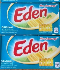 Lot of 2 Original Eden Cheese Spread 165g each (Total of 330 grams) Exp 12/08/20