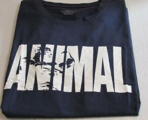 Gym Clothing ANIMAL Fitness Workout T Shirt Navy XXL $8.00