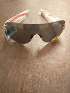 NEW Under Armour UA Split Shield Sunglasses Silver Red Gray Ear Bronze Mirror $69.00