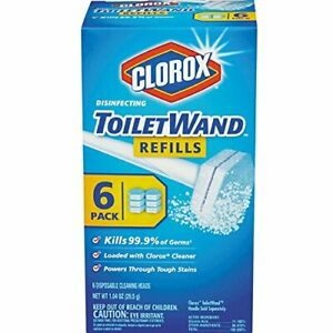 Clorox Disinfecting Toilet Wand Refill Heads 6 ea (Pack of 2)