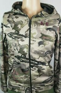 Under Armour Youth Cold Gear Storm Full Zip Loose Fit Hoodie Barren Camo New $45.99