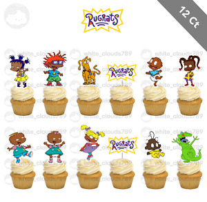 12 African American Rugrats Cupcake Cake Topper Food Pick Favor Party Birthday
