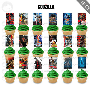 18 Godzilla Movies Mothra Cupcake Cake Topper Food Pick Favor Party Decorations
