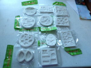11 PKGS SILICONE MOLDS VARIETY FLOWER LEAF BUTTERFLY ANIMAL HERO VEGGIES LIPS +