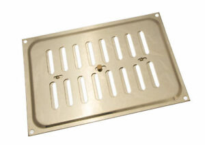 Polished Brass Hit And Miss Louvre Vent Ventilation Cover 9 X 6