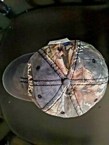 Camouflage Men#x27;s Baesball Hat Cap With Alaska Embroidery New