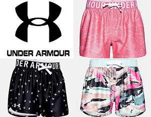 Under Armour Girls Youth Play Up Print Shorts Running Work Out FREE SHIP 1351715 $17.99