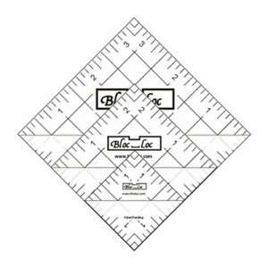 Bloc Loc Half Square Triangle Ruler Set #4 1.5quot;2.5quot;3.5quot; Acrylic Ruler $46.00