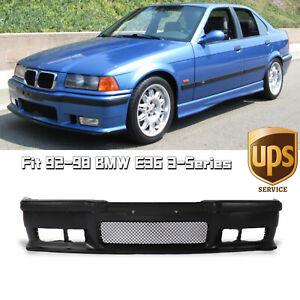 Fit 92 98 BMW E36 3Series 1Pc M3 Style Replacement Front Bumper Body KitGrille $93.50
