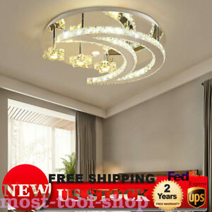Warm Crystal Ceiling Lamp Light LED Room DIY Creative Magic Style Shinning CKR