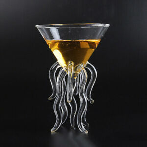 100ml Octopus Cocktail Drink Glass Clear Jellyfish Glass Cup Glassware Glass US