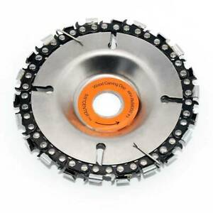Steel Chain Saw Blade for Wood Carving 4 in. 22 Teeth Angle Grinder Disc Cutting
