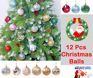 Christmas Ball Set Christmas Xmas Tree Glitter Baubles Balls Ornament Decoration