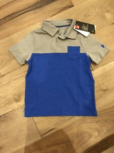 Under Armour Boy's Golf Polo Shirt Youth XS Brand New $12.00