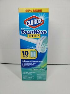 Clorox ToiletWand Disinfecting Refills, Disposable Wand Heads - Rainforest Rush