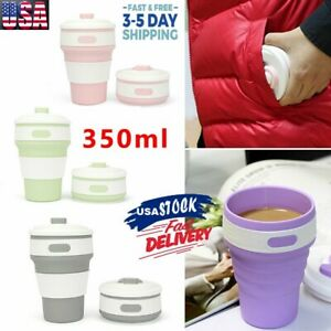 Coffee Cup | Pocket Size Collapsible Silicone Folding Travel Cup 12oz / 350ml US