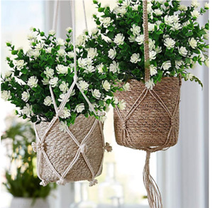 6 Bundles Outdoor Artificial Flowers UV Resistant Fake Boxwood Hanging Plants