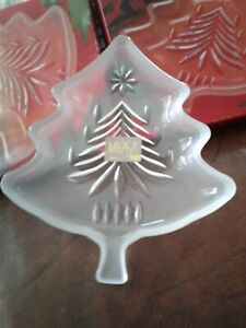 2 MIKASA Frosted Yuletide Tree Sweet Dish 5 WY 155 503