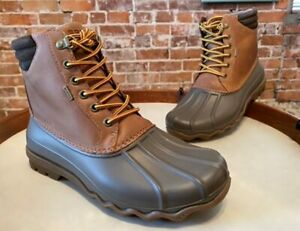 Sperry Tan Brown Men#x27;s Avenue Duck Boot New Waterproof