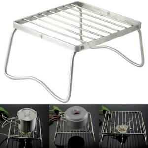 Stainless Steel Folding BBQ Camping Grill Rack Stove Barbecue Picnic Tools