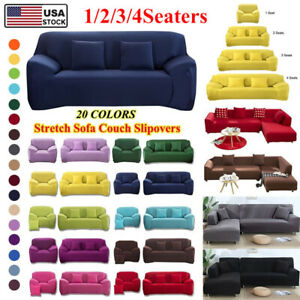 1 4Seater Stretch Slipcover Universal Sofa Cover Dustproof Sofa Protect US STOCK