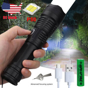 P50.2 Most Powerful Flashlight 5 Modes USB ZOOM Led Torch Best Camping Outdoor
