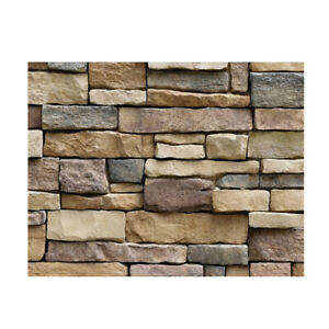 2x 3D Wall Paper Brick Stone Rustic Effect Self adhesive Wall Sticker Home Decor