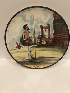 "Wall Hanging Saljo Crespo Plate 9 1 2"" Signed And Incised On The Back"
