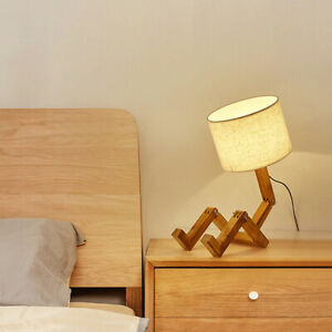 Learning LED Table Lamp Lighting Fixture Robot Shaped Nordic Modern For Bedroom C $53.53