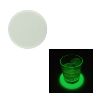 1 Pc Silicone Coaster Anti slip Waterproof Luminous Cup Mat Home Kitchen Round C