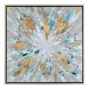 Uttermost 34361 Exploding Star 40 X 40 inch Painting Hand Painted Abstract