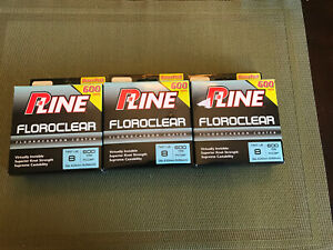 Pline Clear Floroclear Fluorocarbon Fishing 8lb 600 yd Lot Of 3 Boxes New