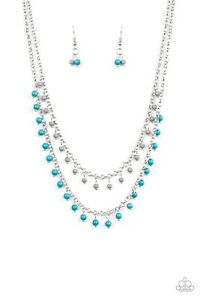 PAPARAZZI Dainty Distraction Blue necklace