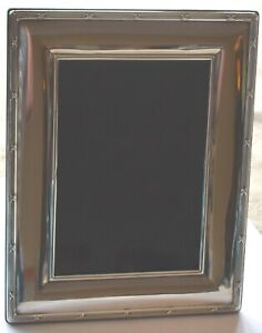 STERLING SILVER PICTURE FRAME 5 X 7 WOOD FRAME