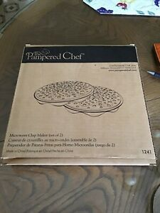 Set of Two Microwave Chip Maker The Pampered Chef #1241