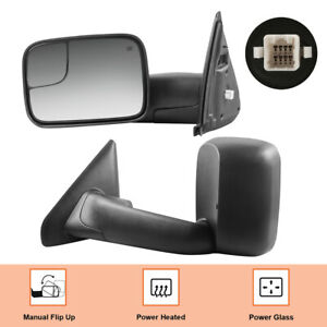 Left amp; Right Power Heated Tow Mirrors For 02 08 Dodge Ram 1500 03 09 2500 3500 $122.97