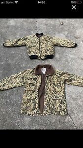 Herters Cabelas Hunting Jacket Coat And Liner Large Camo