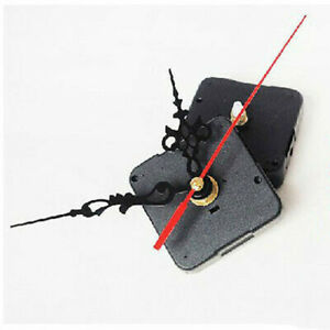 Quartz Movement Silent Clock Mechanism Black and Red Hand Part Kit Tool