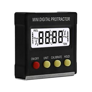 ABS Mini Inclinometer with Magnetic Digital 360° Inclinometer Level Precision $13.79
