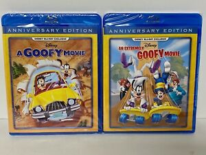 A GOOFY MOVIE AN EXTREMELY GOOFY MOVIE 2 BLU RAYS NEW DMC EXCLUSIVE DISNEY FIRST $59.99